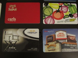 Lots of Gift Card Choices for everyone on your list!